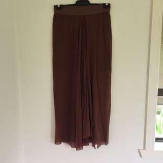 Scanlan Theodore Sheer Skirt With Underlay ML