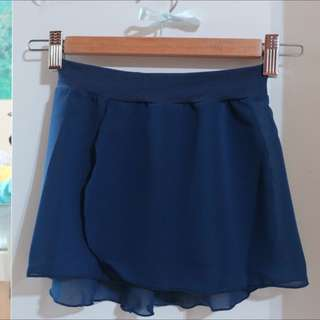 Brand New Mirella Girls Ballet Skirt (Chiffon) Navy Blue Size S