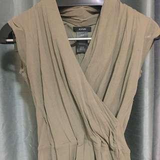 Alfani Camel Wrap Shirt