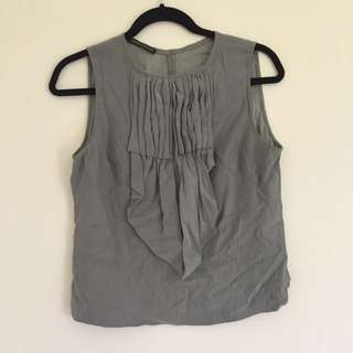 Scanlan Theodore Sample Ruffle Top Size 10