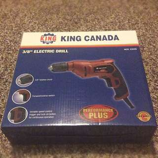 "King Canada 3/8"" Electric Drill"
