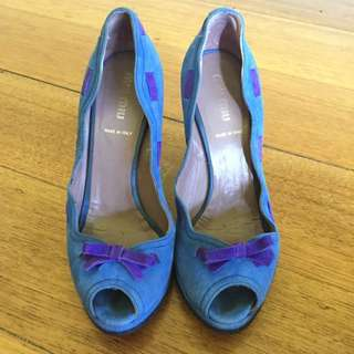 Miu Miu Wedges Size 37.5 Worn Once