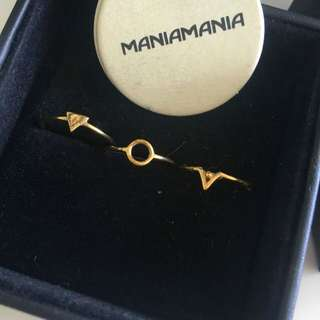 Mania Mania maniamaniaGold Ring Trio Set Stacker Rings