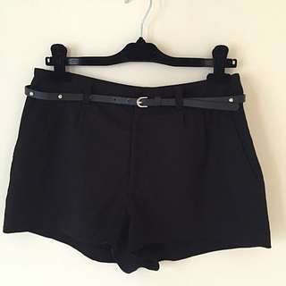 H&M BASIC High Waisted Shorts