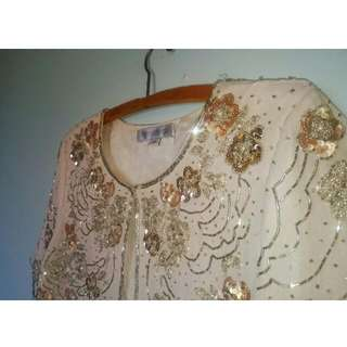 Heavily Embroidered Forever New Bolero Size 10