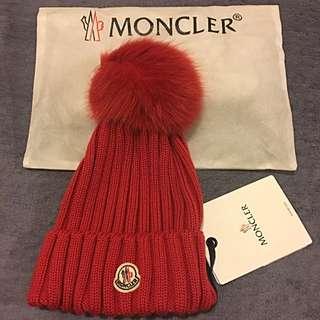 MONCLER 毛帽 (紅色)歐洲超火紅✌️