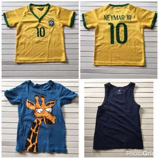 Kids Shirts For Boys H&M Size 4 To 6 Years Old