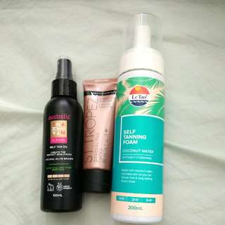 Self Tan Oil, Tanning Foam, Body Lotion (All Brand New)