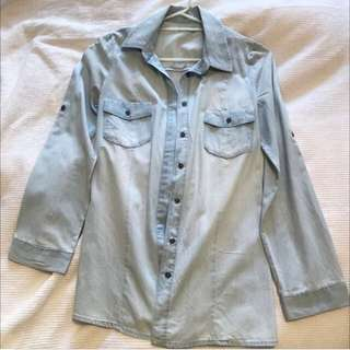 Kookai Denim Look Shirt