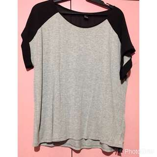 Forever 21 Black And Grey Top