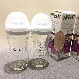 Avent 玻璃240ml 寬口防脹氣奶瓶