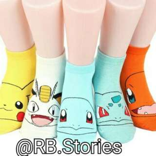 "Korean Socks ""Pokemon"" Series"