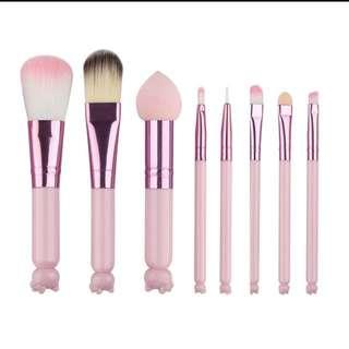 8 Pcs Makeup Brush Set | PO
