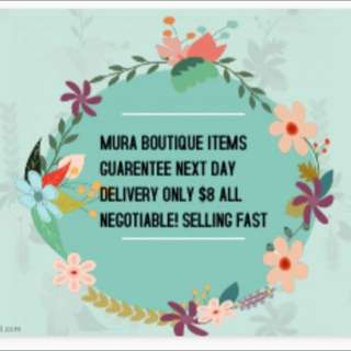 MURA BOUTIQUE ITEMS  NEGOTIABLE