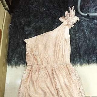 ZARA TRF Asymmetrical Lace Dress