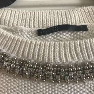 Tokito Diamanté Neck Knit