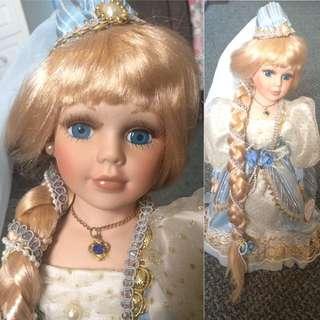 SALE Porcelain Rapunzel Doll