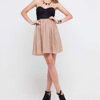 Motel Rocks Anali Strapless dress