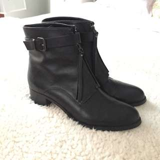 promod leather boots