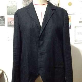 Yohji Yamamoto Y's 三釦麻料中性西裝外套