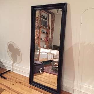 Full Length Black Frame Mirror