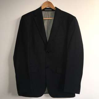 Black Chalk-striped Two-piece Suit