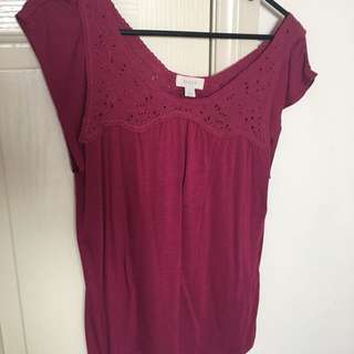 OJAY Size 6, Magenta Colour Top