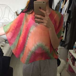 colorful top size S