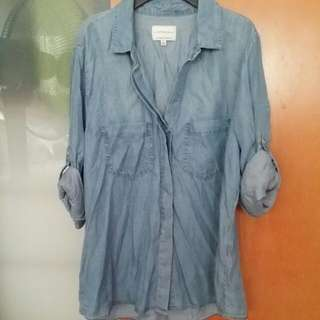 (Free Normal Mail) Pre-loved Cotton On Denim Shirt