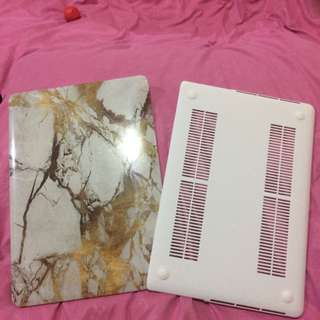 "15"" Macbook Pro Retina White/Gold Marble Casing"