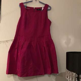 Purple 'Cue' Dress With Sparky Rim Petty Coat