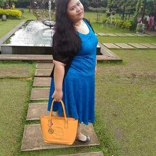 H&M+ Blue Lance Dress Plus Size