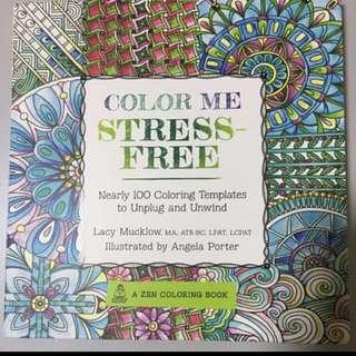 COLOUR ME STRESS FREE BOOK