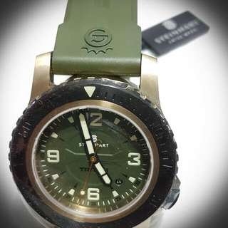 Collector's Steinhart Triton Military Bronze 42mm!! (With Greenish Color Rubber Strap)