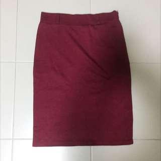 Maroon skirt (free size)