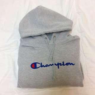 Champion 灰色帽T