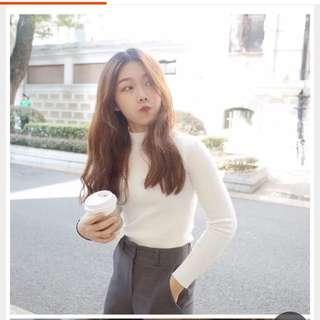 韓國長袖打底針織緊身毛衣