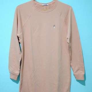 Knee-Long Peach Shirt (HUSH PUPPIES)