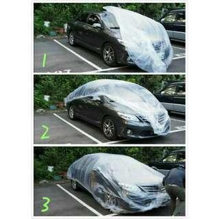 【Car's Raincoat】防塵防油汙、車套、車衣車罩、便利車套、一次性車罩、PE塑料薄膜