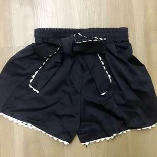 氣質日系韓版西裝材質縮腰顯瘦短褲