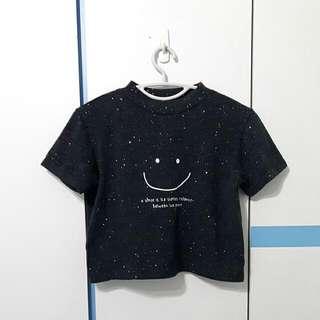 [CLOSET CLEARANCE]Navy Glitter Knit Crop Top
