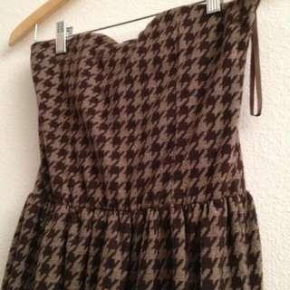 Authentic Zara houndstooth dress