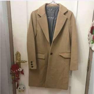 100%real 日本品牌dazzlin 中長修身外套