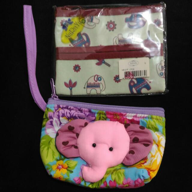 大象面紙包+立體大象零錢包(可愛)