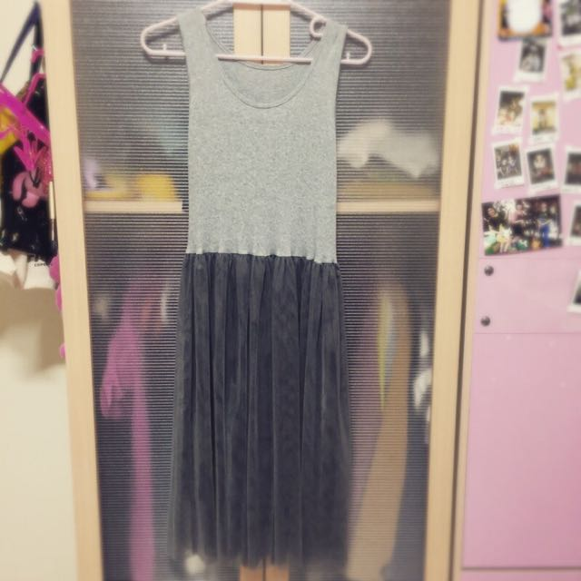 二手 深灰紗裙