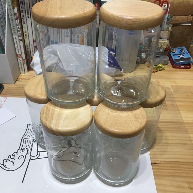 木蓋 玻璃罐