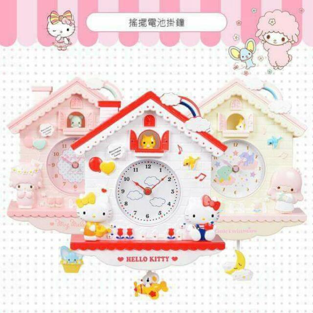 預購 三麗鷗小房子可愛掛鐘