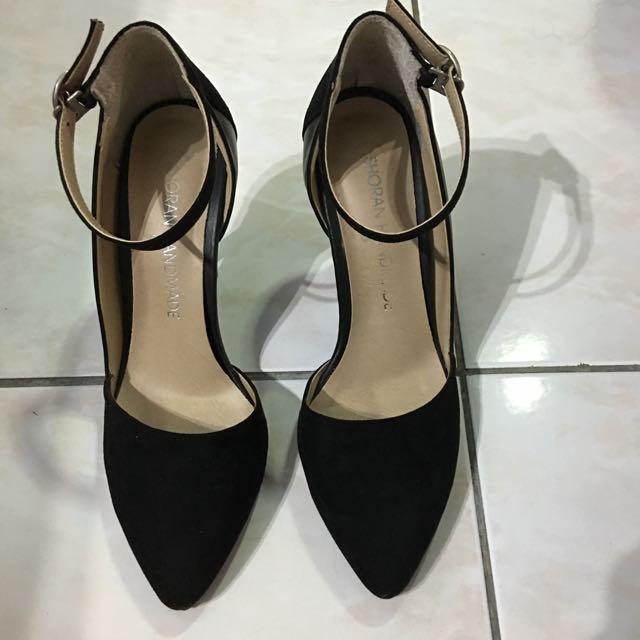 正韓 黑色尖頭鞋 尺寸37