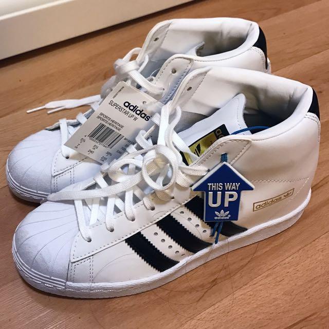 Adidas Superstar 金標內增高貝殼鞋