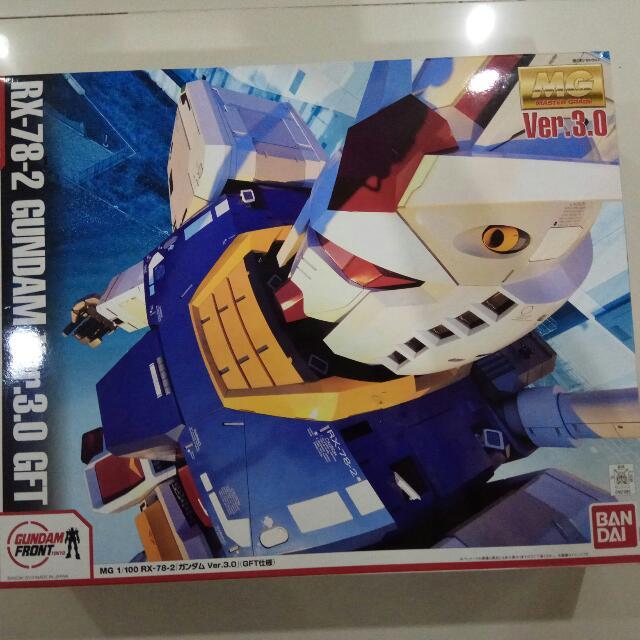 Bandai LIMITED EDITION RX-78 Ver 3.0 Gundam FRONT Model MG Grade 1:100